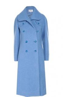 Двубортное шерстяное пальто с карманами Carven