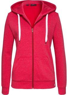 Трикотажная куртка (красный меланж) Bonprix