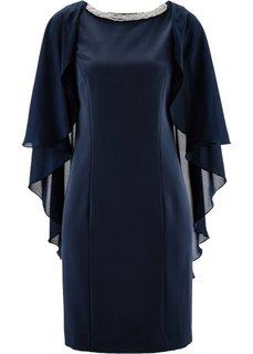 Платье со стразами (темно-синий) Bonprix