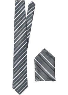 Галстук + платок (2 изд.) (светло-серый в полоску) Bonprix