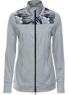 Легкая спортивная куртка с контрастными вставками (серебристо-серый меланж) Bonprix