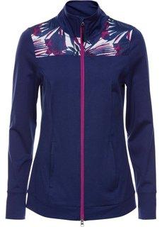 Легкая спортивная куртка с контрастными вставками (темно-синий меланж) Bonprix