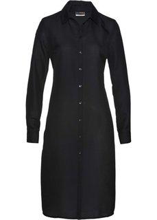 Длинная блузка с леопардовым принтом (черный) Bonprix