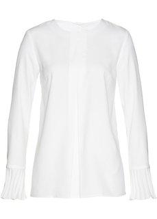 Блуза с плиссировкой (кремовый) Bonprix