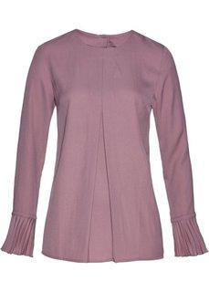 Блуза с плиссировкой (фиолетовый матовый) Bonprix