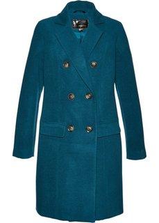 Пальто из искусственной шерсти (серо-синий) Bonprix