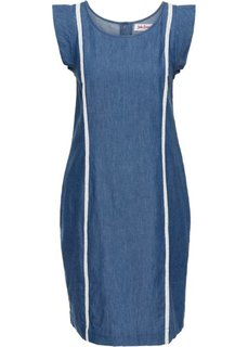 Джинсовое платье А-образного покроя (синий) Bonprix