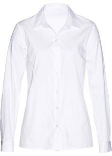 Блузка с кружевной отделкой (белый) Bonprix