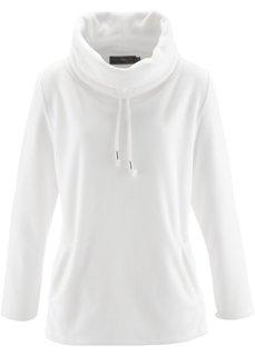 Флисовый пуловер (цвет белой шерсти) Bonprix