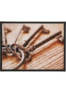 Коврик для двери Ключи (коричневый) Bonprix