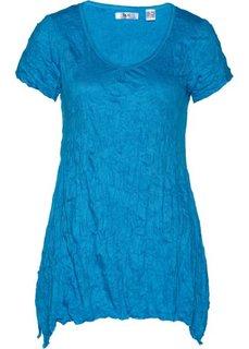 Удлиненная футболка с коротким рукавом (голубой) Bonprix