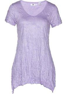 Удлиненная футболка с коротким рукавом (светло-фиолетовый) Bonprix