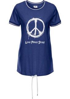 Завязывающаяся футболка (темно-синий) Bonprix