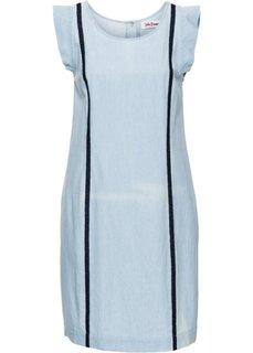 Джинсовое платье А-образного покроя (нежно-голубой) Bonprix