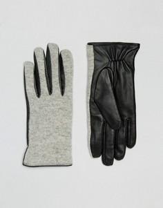 Перчатки с добавлением шерсти Vila - Серый
