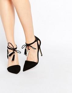 Туфли на каблуке с кисточками Lipsy Laura - Черный