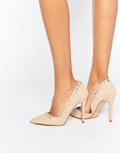 Туфли-лодочки на каблуке с люверсами Lipsy - Бежевый