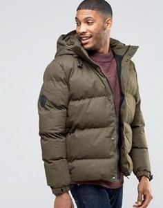Черная стеганая куртка Bellfield - Зеленый