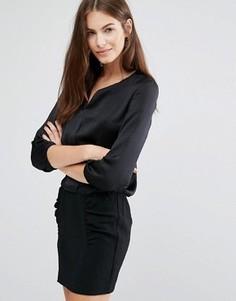 Цельнокройное платье с драпировкой на юбке See U Soon - Черный