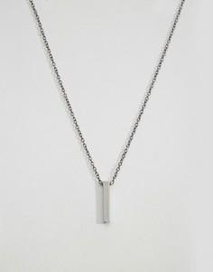 Ожерелье с подвеской‑планкой Icon Brand - Серебряный