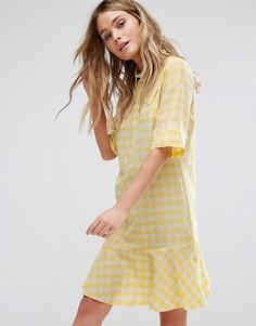 Желтое платье в клетку PS by Paul Smith - Желтый