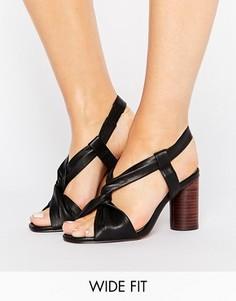 Босоножки на каблуке для широкой стопы ASOS TALLULAH - Черный