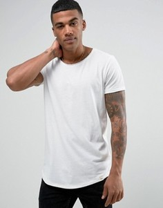 Меланжевая трикотажная футболка Lee - Белый