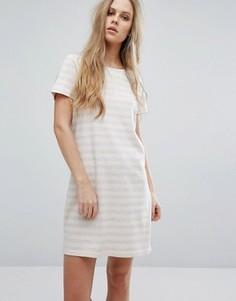 Платье в полоску с овальным вырезом Vila - Мульти