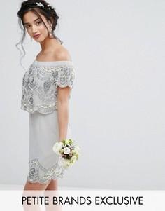 Декорированное платье мини Maya Petite - Серый