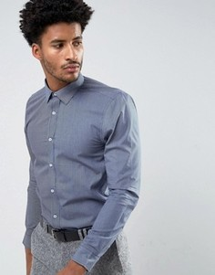 Темно-синяя облегающая футболка с геометрическим узором Ben Sherman - Темно-синий