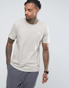Серая футболка с вышитым логотипом Nike 827021-042 - Серый