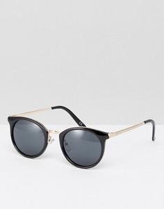 Круглые золотисто-черные солнцезащитные очки ASOS - Черный