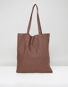 Коричневая сумка-тоут ASOS - Коричневый