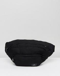 Большая сумка-кошелек на пояс с массивной застежкой-молнией ASOS - Черный
