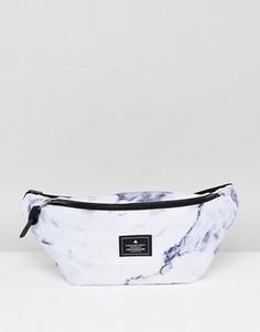 Сумка-кошелек на пояс с мраморным принтом ASOS - Мульти