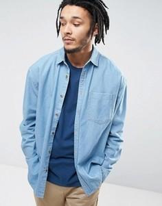 Свободная джинсовая рубашка ASOS - Синий
