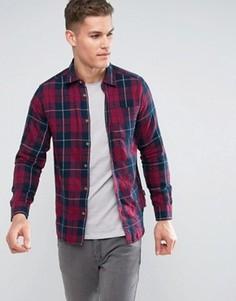 Фланелевая рубашка в клетку Jack & Jones - Красный