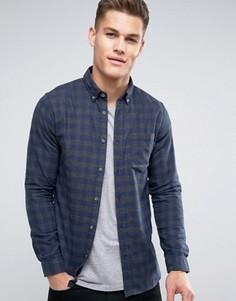 Фланелевая рубашка в клетку Jack & Jones - Темно-синий