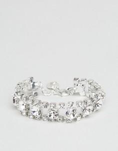 Браслет с кристаллами Swarovski от Krystal London - Серебряный
