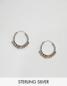 Серебряные серьги-кольца с шариками Fashionology - Серебряный