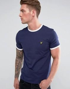 Темно-синяя футболка Lyle & Scott - Темно-синий