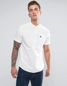 Белая оксфордская рубашка с коротким рукавом Lyle & Scott - Белый