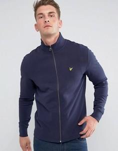 Темно-синяя легкая куртка с воротником-стойкой Lyle & Scott - Темно-синий