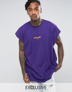 Фиолетовая футболка без рукавов Sixth June - Фиолетовый