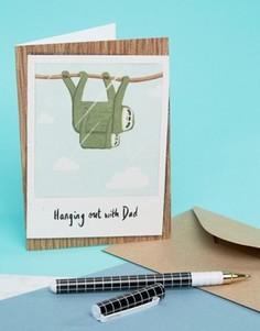 Открытка на День отца с ленивцем Ohh Deer - Мульти
