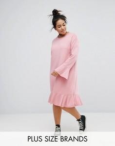 Платье А-силуэта с оборкой Pink Clove - Розовый