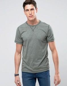 Зеленая футболка с круглым вырезом Abercrombie & Fitch - Зеленый
