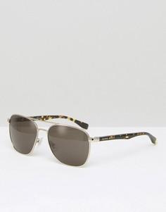 Kоричневые солнцезащитные очки в стиле ретро Hugo Boss - Коричневый