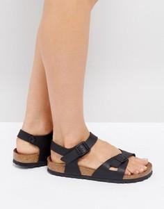 Черные сандалии Birkenstock Rio Flor - Черный