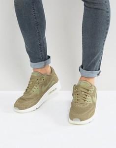 Зеленые кроссовки Nike Air Max 90 Ultra Breathe 898010-200 - Зеленый